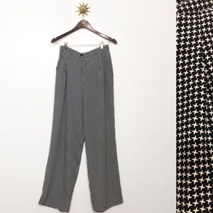 Vintage high waisted houndstooth pants